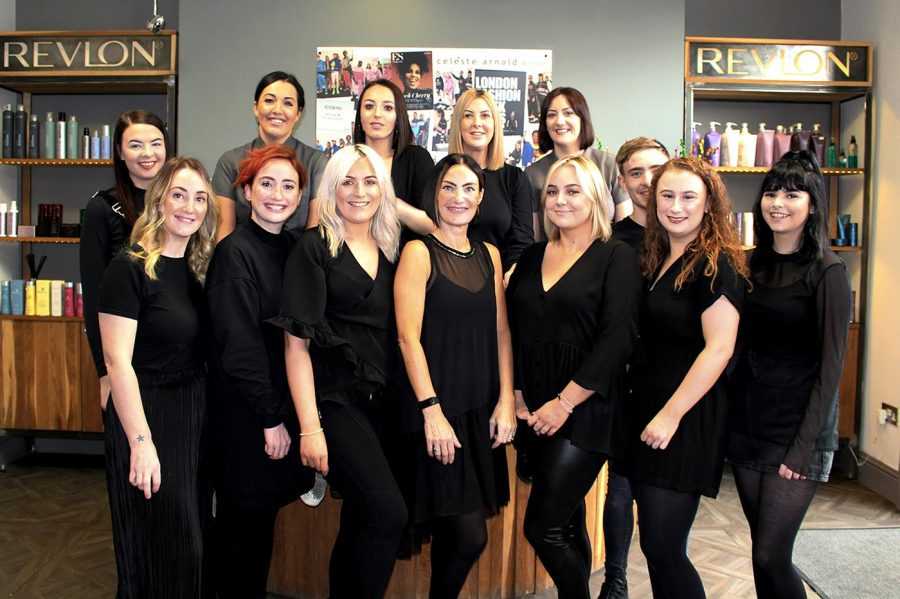 Celeste Arnold Hair and Beauty Team Photograph